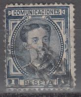 SPAIN    SCOTT NO. 228A    USED    YEAR  1876 - 1875-1882 Kingdom: Alphonse XII