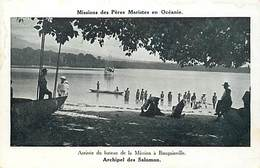 Pays Div -ref P183- Missions Des Peres Maristes En Oceanie -arrivée Mission A Bougainville -archipel Des Salomons  - - Solomon Islands