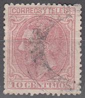 SPAIN    SCOTT NO. 244    USED    YEAR  1879 - 1875-1882 Kingdom: Alphonse XII