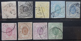 Luxemburg   1859    Nr. 3 - 11     Gestempeld    CW  2915,00 - 1859-1880 Coat Of Arms