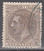 SPAIN    SCOTT NO. 247    USED    YEAR  1879 - 1875-1882 Kingdom: Alphonse XII