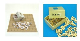 Set : Soft Shogi Board + Plastic Pieces - Group Games, Parlour Games