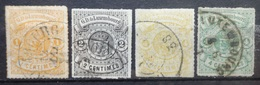Luxemburg   1865    Nr.  12 - 15      Gestempeld    CW  550,00 - 1859-1880 Coat Of Arms
