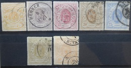 Luxemburg   1865    Nr.  16 - 23 ( Zonder 21)       Gestempeld    CW  415,00 - 1859-1880 Coat Of Arms