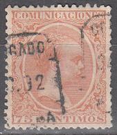 SPAIN    SCOTT NO. 267   USED    YEAR  1889 - 1889-1931 Kingdom: Alphonse XIII