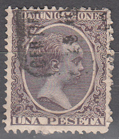 SPAIN    SCOTT NO. 268   USED    YEAR  1889 - 1889-1931 Kingdom: Alphonse XIII