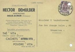 Deux-Acren  Hector De Mulder. Herboristerie. Thé Vita. Comprimés Asthma-Vita. Publicitaire - Lessines