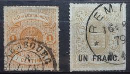 Luxemburg   1872    Nr. 24 - 25        Gestempeld    CW  110,00 - 1859-1880 Coat Of Arms