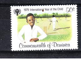 Dominica  - 1979. Anno Della Gioventù. Youth Year. Bimbo Al Cricket . MNH - Cricket