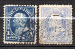 Col11   Etats Unis Amerique USA  N° 97 & 97a Oblitéré  Cote 7,50 Euros - Used Stamps