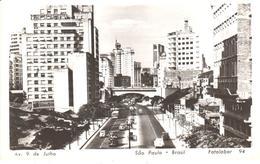 POSTAL    SAO PAULO  -BRASIL  - AVENIDA 9 DE JULIO   (FOTOLABOR  94) - São Paulo