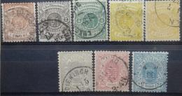Luxemburg   1875    Nr. 27 - 33  Tand. 13 ( Met 30 A En 30 B Zie Foto)        Gestempeld    CW  350,00 - 1859-1880 Coat Of Arms