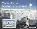 TAAF 2015 Bloc Feuillet En Relief Terre Adélie Sentinelle Du Climat Neuf ** - Blocs-feuillets