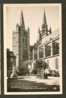 CP-Photo-MENDE- Place Chaptal Et Tours De La Cathédrale - Mende