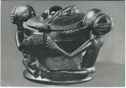 Belgium - Koninklijk Museum Van Belgisch Congo - Bowl Held By Two Scated Figures,with Lid.Ba-Luba Tribe: H.277 Mm. - Belgium