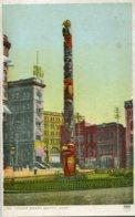 UNITED STATES - Totem Pole - Pioneer Square Seattle - Indiens De L'Amerique Du Nord