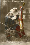 FRANCE - Patriotic - Gloire Et Edouement - Injured Solder And Nurse With Flag Etc - World War One WWI - Patriotic