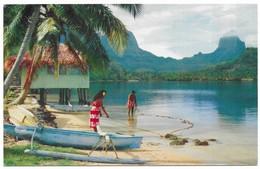 Tahiti Paopao Bay, Known As Cook' S Bay, At Moorea Publicité Pan American - Tahiti