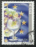 ITALIA REPUBBLICA ITALY REPUBLIC 2005 EUROPA UNITA BANDIERA EUROPEA  € 0,62 USATO USED OBLITERE' - 6. 1946-.. Republic