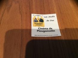 """Ticket De Cinéma Plougonvelin (29) """"Les Jeudis Du Doc - Iranien"""" - Tickets - Vouchers"""