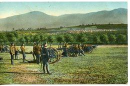 323. CPA COLORISEE BULGARIE DE KNIAJEVO 1919. MILITAIRES ET CANONS - Bulgaria