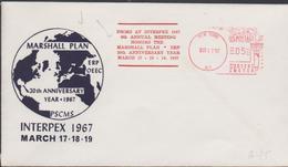 3364   Carta  Interpex 1967, New York Marshall Plan - Vereinigte Staaten
