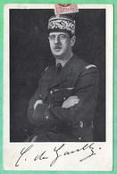 """GENERAL DE GAULLE - CARTE DU JOURNAL """"LA REPUBLIQUE"""" MOUVEMENT DE LIBERATION NATIONALE - 2 SCANS - War 1939-45"""
