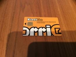 Carte à Puce De Transport (Bus, Tramway, Téléphérique) Korrigo Brest (29) «bretonne Des Déplacements Et Des Services» - Season Ticket