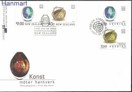 Sweden 2002 FDC ( FDC ZE3 SWD2293-2294+NZL ) - Gezamelijke Uitgaven