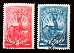1910 Uruguay Yt 181, 182 Centaur - Uruguay