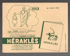 Buvard Héraklès Cahiers & Copies - Rôme - Stationeries (flat Articles)