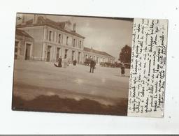 CAHORS (LOT) CARTE PHOTO DE LA GARE AVEC PETITE ANIMATION 1904 - Cahors