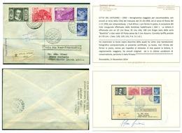 V8427 PRIMO VOLO FIRST FLIGHT 1950 SAA Roma-Johannesburg, Aerogramma Raccomandato  Da CITTA' DEL VATICANO 31.10.1950, - Vatican