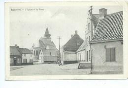 Espierres Eglise Et La Place - Espierres-Helchin - Spiere-Helkijn