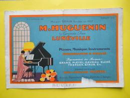 Buvard ,Luneville ,Musique ,Huguenin - Buvards, Protège-cahiers Illustrés