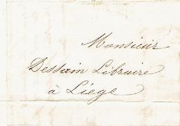 Précurseur Lettre Du 10/9/1847 Envoyée Par Porteur De NAMUR à LIEGE - Signé ROFFIAEN-DUJARDIN - 1830-1849 (Belgique Indépendante)