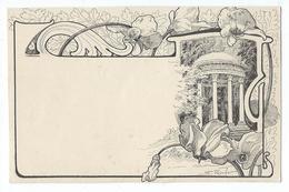 Illustrateur Rocher - Kiosque - Art Nouveau - Autres Illustrateurs