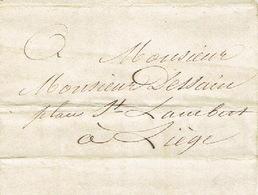 Précurseur Lettre Du 9/9/1847 Envoyée Par Le Messager JORIS De NASSOGNE à LIEGE - Signé LAMBERT Instituteur - 1830-1849 (Belgique Indépendante)