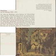 Allemagne Fédérale 1970. Télégramme De Luxe. Sérénade, Par Carl Spitzweg. Cinq Musiciens Sous Un Balcon - Music