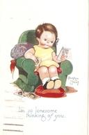 """Beatrice Mallet. Im So  Lonesome Thinkingof You"" Tuck Oilette Cute Kiddies Series PC # 3607 - Tuck, Raphael"