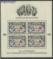 Honduras 1951 Mi Bl 3 Mh - Mint Hinched ( PZS1 HNDbl3 ) - Géographie