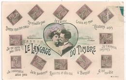 Cpa Le Langage Des Timbres - Poste & Facteurs