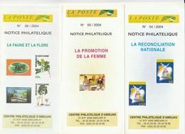 6 Notice Philatelique 2004 Republique Cote D'Ivoire - Ivory Coast - Costa De Marfil (1960-...)