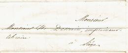 Précurseur Lettre Du 26/9/1847 Envoyée Par Porteur De PEPINSTER à LIEGE - Signé LEFEBVRE A. Notaire - 1830-1849 (Belgique Indépendante)