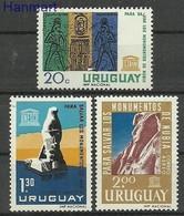Uruguay 1964 Mi 981-983 MNH ( ZS3 URG981-983 ) - Archaeology