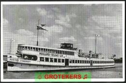 """Boot """"kasteel Staverden""""  Rode Kruis Boottocht 1956 Verzonden 1957     Red Cross Special Cancel - Harderwijk"""