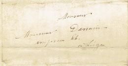 Précurseur Lettre Du 17/9/1850 Envoyée Par Messagère De VISE à LIEGE - Signé A. WILLEM Curé à SAINT-HADELIN - Belgique