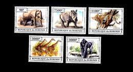 Rhinocéros Léopard Burundais éléphant Girafe FAUNE Afrique Timbres 2015 MNH - Burundi