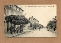 CPA - LIMONEST (69) - Aspect De L'entrée Du Bourg Et Du Café Tolly En 1912 - Limonest