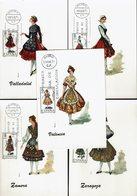 Spanien Espana Spain - Trachten 1971 (5) - MiNr 1909-1911, 1920, 1927 - Kostüme
